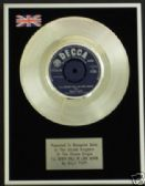 "BILLY FURY 7""Platinum Disc ILL NEVER FALL IN LOVE AGAIN"